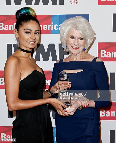Nelufar Hedayat and Diane Rehm attend the International Women's Media Foundation 27th annual Courage In Journalism Awards at the Beverly Wilshire...