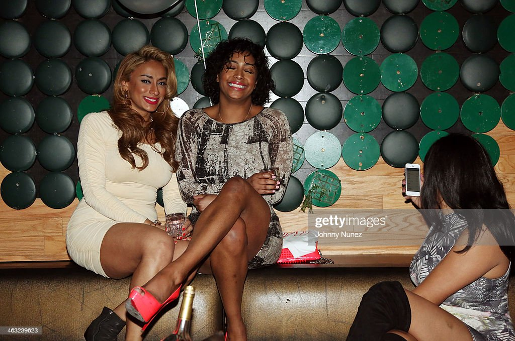 Nema Kamar (L) attends a birthday celebration for Barry Mullineaux and DJ Clue at Greenhouse on January 16, 2014, in New York City.