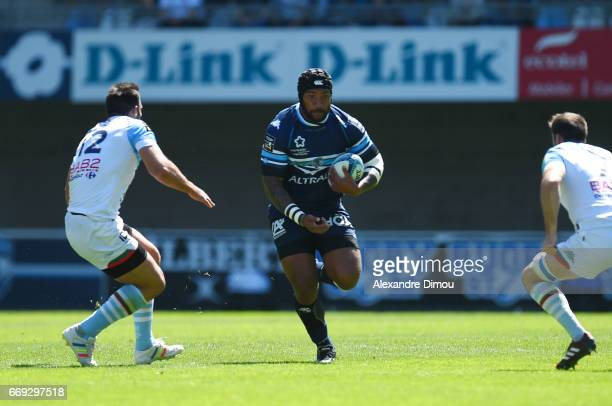 Nemani Nadolo of Montpellier during the Top 14 match between Montpellier and Bayonne on April 16 2017 in Montpellier France