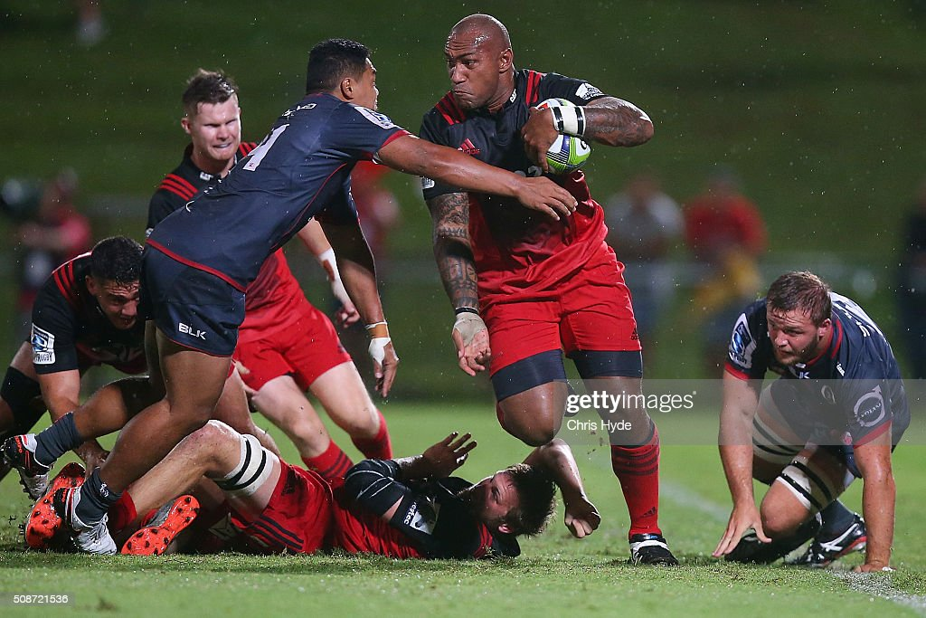 <a gi-track='captionPersonalityLinkClicked' href=/galleries/search?phrase=Nemani+Nadolo&family=editorial&specificpeople=6547098 ng-click='$event.stopPropagation()'>Nemani Nadolo</a> of the Crusaders runs the ball during the Super Rugby pre-season match between the Reds and the Crusaders at Ballymore Stadium on February 6, 2016 in Brisbane, Australia.