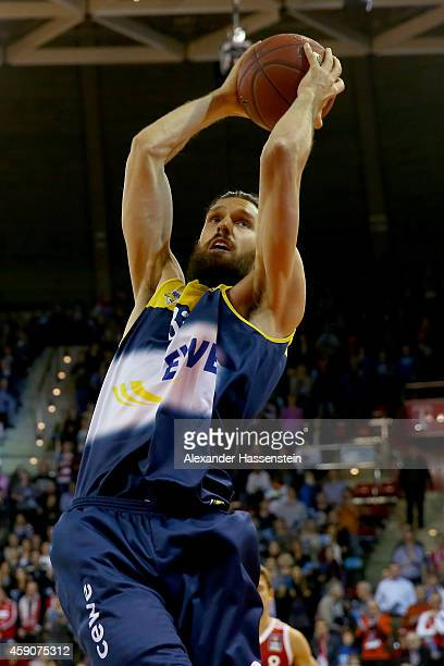 Nemanja Aleksandrov of Oldenburg during the Beko Basketball Bundesliga match between FC Bayern Muenchen and EWE Baskets Oldenburg at AudiDome on...