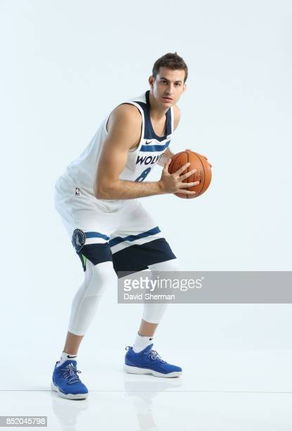Nemanja Bjelica of the Minnesota Timberwolves poses for portraits during the 2017 Media Day on September 22 2017 at the Minnesota Timberwolves and...