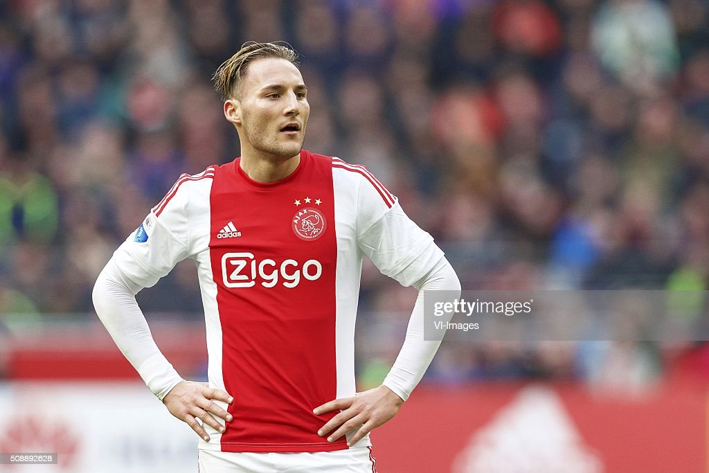 Nemanja Gudelj of Ajax during the Dutch Eredivisie match between Ajax Amsterdam and Feyenoord Rotterdam at the Amsterdam Arena on February 07, 2016 in Amsterdam, The Netherlands