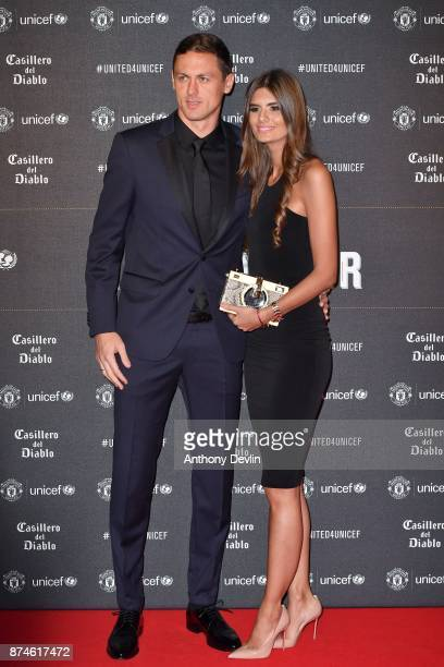 Nemanja Matic and Aleksandra Matic attends the United for Unicef Gala Dinner at Old Trafford on November 15 2017 in Manchester England