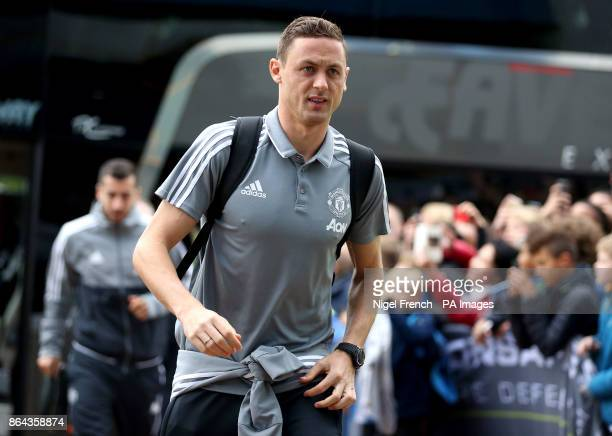 Nemanja Matic arrives for the Premier League match at the John Smith's Stadium Huddersfield