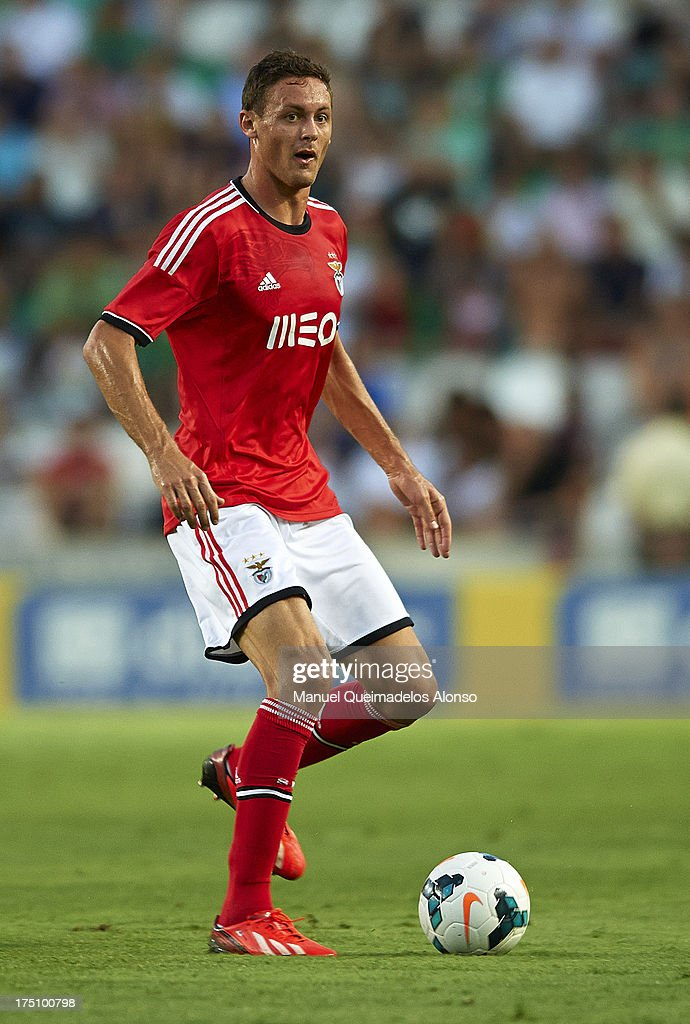 Nemanja Matic of Benfica runs with the ball during a friendly match between Elche CF and Benfica at Estadio Martinez Valero on July 31, 2013 in Elche, Spain.