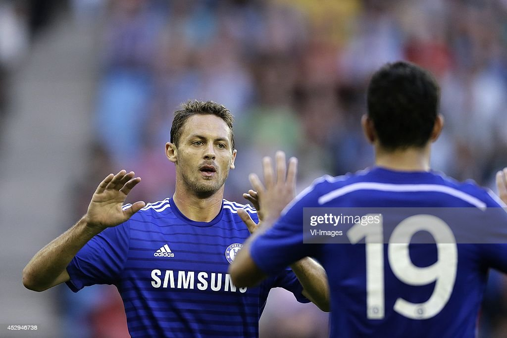 Nemanja Matic of Chelsea, Diego Costa of Chelsea during the friendly match between Vitesse Arnhem and Chelsea at Gelredome on July 30, 2014 in Arnhem, The Netherlands