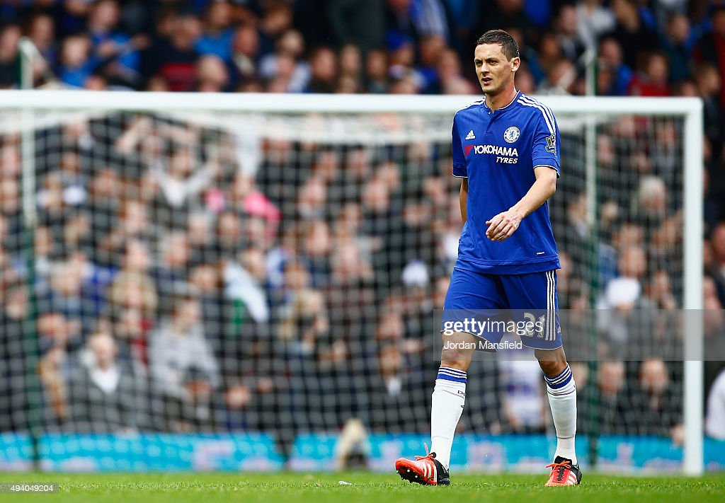 Nemanja Matic of Chelsea leaves the pitch after being shown a red card during the Barclays Premier League match between West Ham United and Chelsea at Boleyn Ground on October 24, 2015 in London, England.