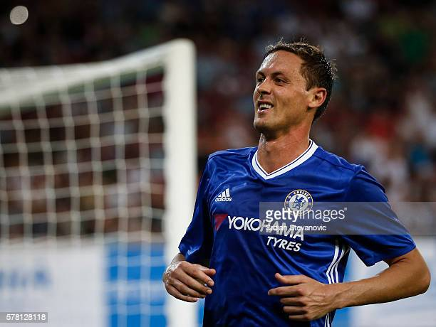 Nemanja Matic of Chelsea reacts during the friendly match between WAC RZ Pellets and Chelsea FC at Worthersee Stadion on July 20 2016 in Velden...
