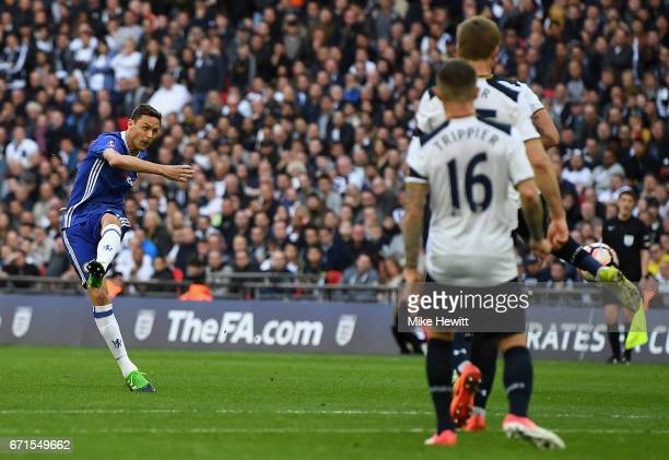 Nemanja Matic of Chelsea scores his sides fourth goal during The Emirates FA Cup SemiFinal between Chelsea and Tottenham Hotspur at Wembley Stadium...