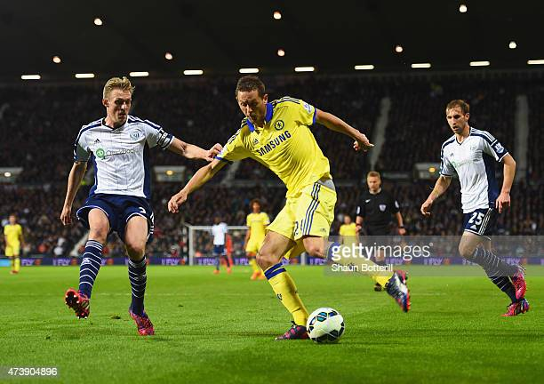 Nemanja Matic of Chelsea takes on Darren Fletcher of West Bromwich Albion during the Barclays Premier League match between West Bromwich Albion and...