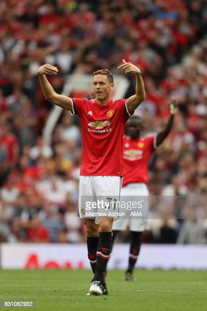 Nemanja Matic of Manchester United during the Premier League match between Manchester United and West Ham United at Old Trafford on August 13 2017 in...