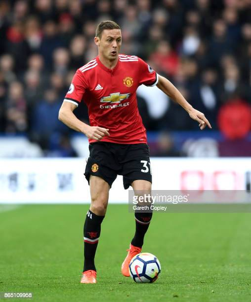 Nemanja Matic of Manchester United during the Premier League match between Huddersfield Town and Manchester United at John Smith's Stadium on October...