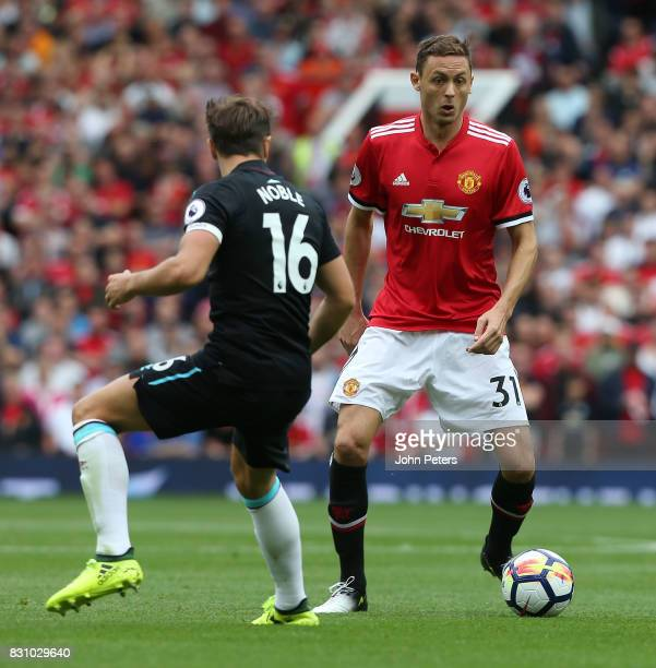 Nemanja Matic of Manchester United in action during the Premier League match between Manchester United and West Ham United at Old Trafford on August...