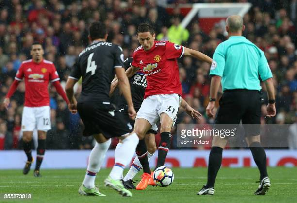 Nemanja Matic of Manchester United in action during the Premier League match between Manchester United and Crystal Palace at Old Trafford on...