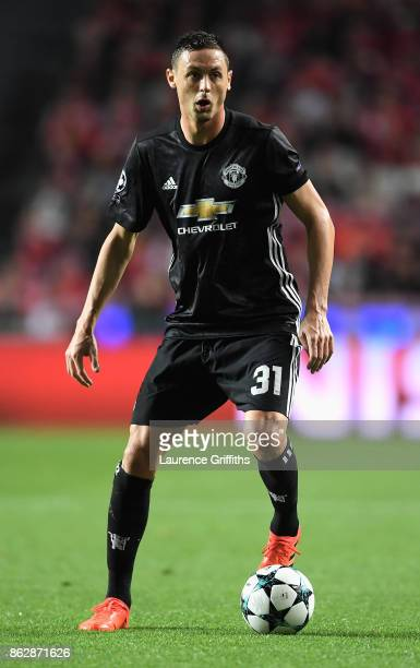 Nemanja Matic of Manchester United in action during the UEFA Champions League group A match between SL Benfica and Manchester United at Estadio da...