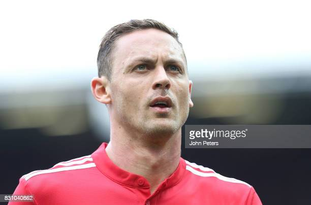 Nemanja Matic of Manchester United walks off at halftime during the Premier League match between Manchester United and West Ham United at Old...