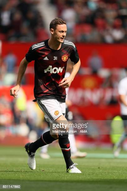 Nemanja Matic of Manchester United warms up prior to the Premier League match between Manchester United and West Ham United at Old Trafford on August...