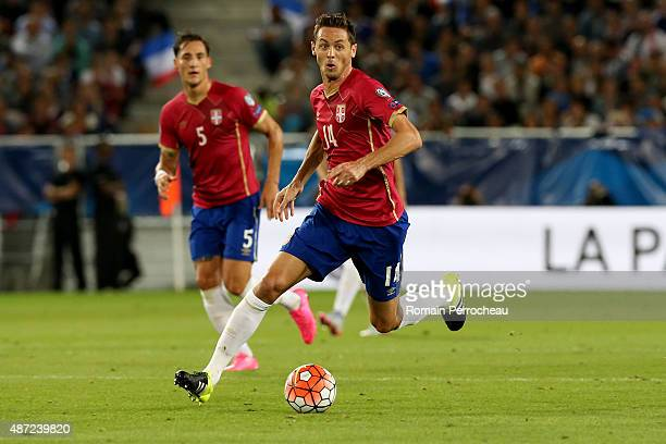 Nemanja Matic of Serbia during the International Friendly game between France and Serbia on September 7 2015 in Bordeaux France