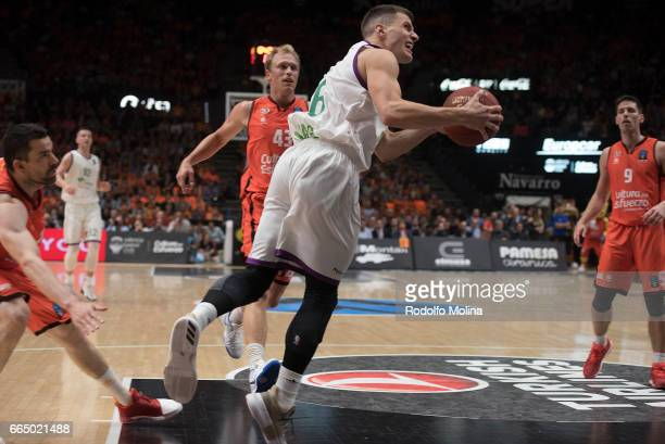 Nemanja Nedovic #16 of Unicaja Malaga in action during the 20162017 7Days Eurocup Finals Leg 3 Valencia Basket v Unicaja Malaga at Pabellon Fuente de...