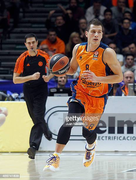 Nemanja Nedovic #8 of Valencia Basket in action during the 20142015 Turkish Airlines Euroleague Basketball Regular Season Date 7 game between...