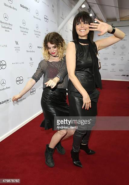 Nena and her daugther Larissa Kerner attend the Minx by Eva Lutz show during the MercedesBenz Fashion Week Berlin Spring/Summer 2016 at Brandenburg...