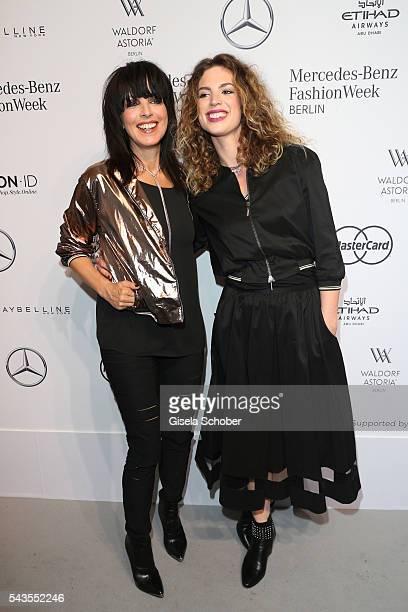 Nena and Larissa Kerner attend the Minx by Eva Lutz show during the MercedesBenz Fashion Week Berlin Spring/Summer 2017 at Erika Hess Eisstadion on...