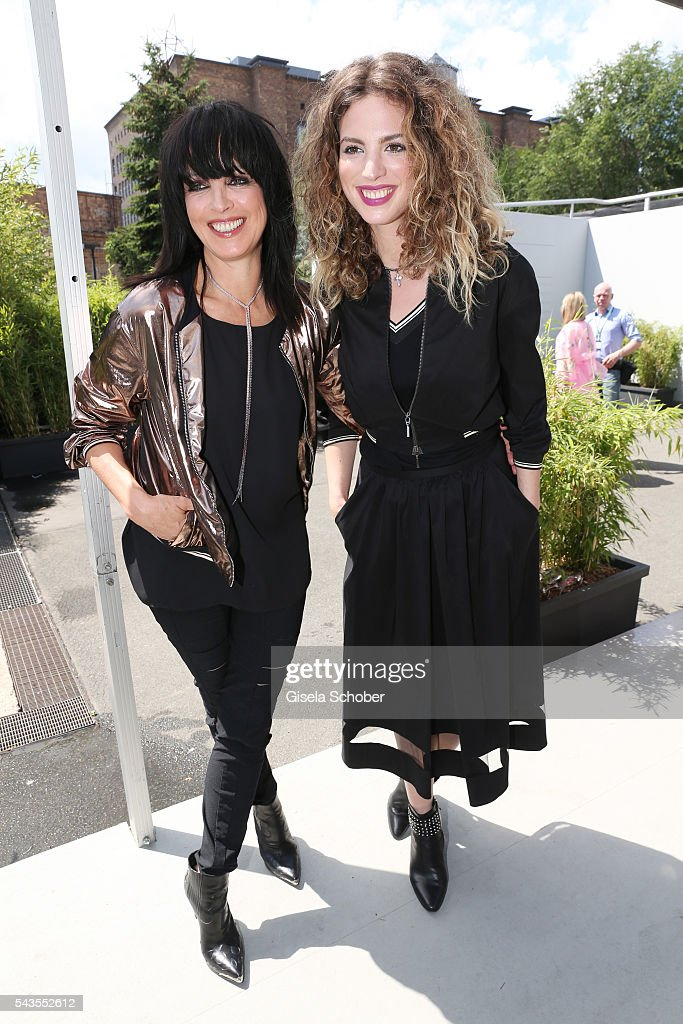 Nena and Larissa Kerner attend the Minx by Eva Lutz show during the Mercedes-Benz Fashion Week Berlin Spring/Summer 2017 at Erika Hess Eisstadion on June 29, 2016 in Berlin, Germany.