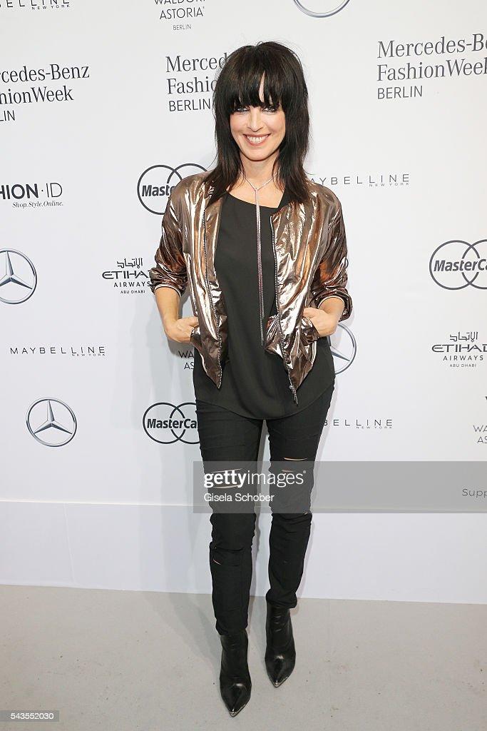 Nena attends the Minx by Eva Lutz show during the MercedesBenz Fashion Week Berlin Spring/Summer 2017 at Erika Hess Eisstadion on June 29 2016 in...