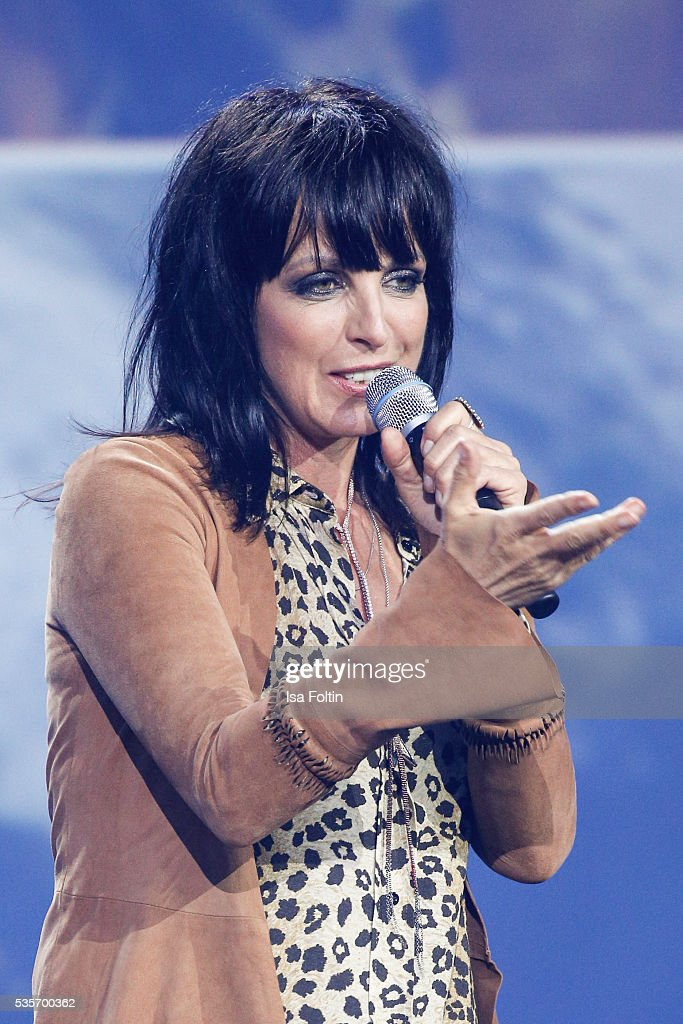 Nena live on stage during the Green Tec Award at ICM Munich on May 29, 2016 in Munich, Germany.