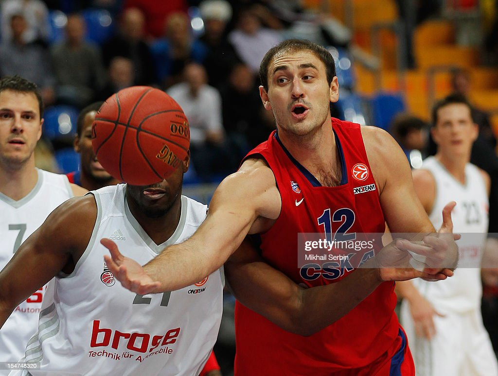 <a gi-track='captionPersonalityLinkClicked' href=/galleries/search?phrase=Nenad+Krstic&family=editorial&specificpeople=202625 ng-click='$event.stopPropagation()'>Nenad Krstic</a>, #12 of CSKA Moscow competes with <a gi-track='captionPersonalityLinkClicked' href=/galleries/search?phrase=Latavious+Williams&family=editorial&specificpeople=6523982 ng-click='$event.stopPropagation()'>Latavious Williams</a>, #21 of Brose Baskets Bamberg during the 2012-2013 Turkish Airlines Euroleague Regular Season Game Day 3 between CSKA Moscow v Brose Baskets Bamberg at Megasport Sports Palace on October 25, 2012 in Moscow, Russia.