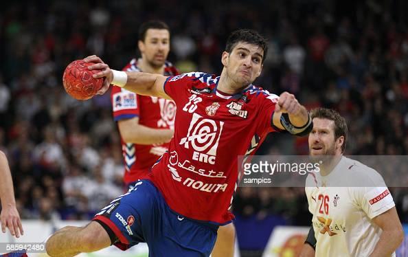 Nenad VUCKOVIC Handball Männer Europameisterschaft Spiel Finale Serbien Dänemark Handball european championship gold medal match Serbia Denmark