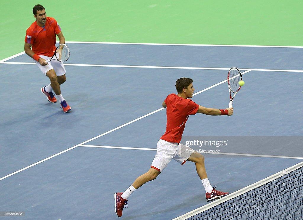 Davis Cup: Serbia v Switzerland - Day 2