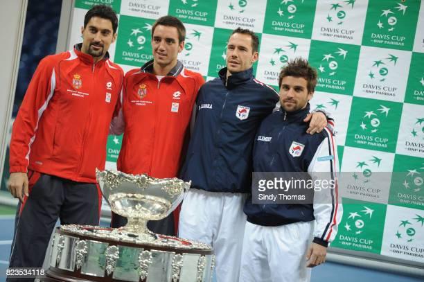 Nenad Zimonjic / Viktor Troicki Michael Llodra / Arnaud Clement Tirage au sort Finale Coupe Davis Belgrade Serbie