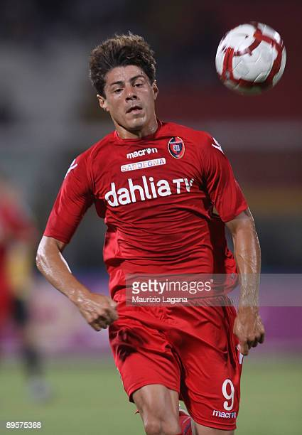 Nene' Anderson da Silva of Cagliari in action during Dahila Cup match played between Catania and Cagliari at Angelo Massimino Stadium on August 2...
