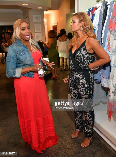 NeNe Leakes and Gizelle Bryant attend EveryHue PopUp Shop at Swagg Boutique on July 13 2017 in Atlanta Georgia