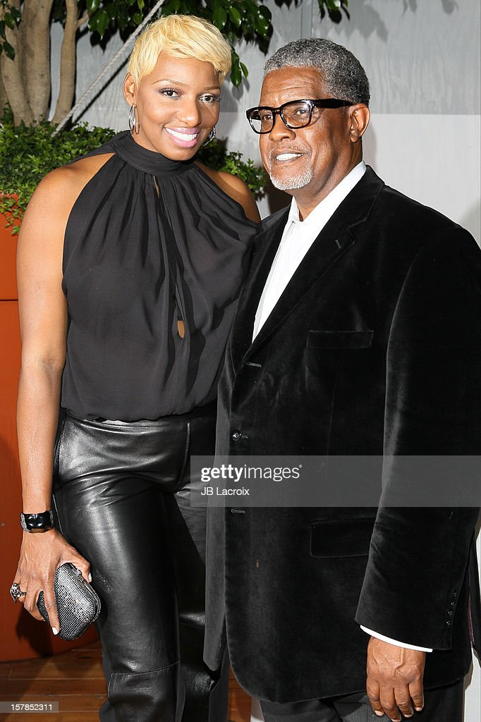Nene Leakes and Gregg Leakes attend the Voli Light Vodka Benefit at SkyBar at the Mondrian Los Angeles on December 6, 2012 in West Hollywood, California.