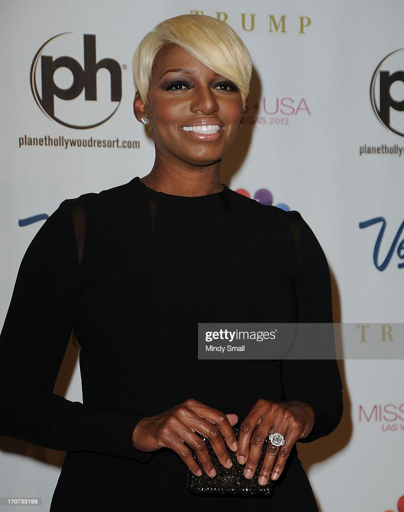 <a gi-track='captionPersonalityLinkClicked' href=/galleries/search?phrase=NeNe+Leakes&family=editorial&specificpeople=5446374 ng-click='$event.stopPropagation()'>NeNe Leakes</a> arrives at the 2013 Miss USA pageant at Planet Hollywood Resort & Casino on June 16, 2013 in Las Vegas, Nevada.