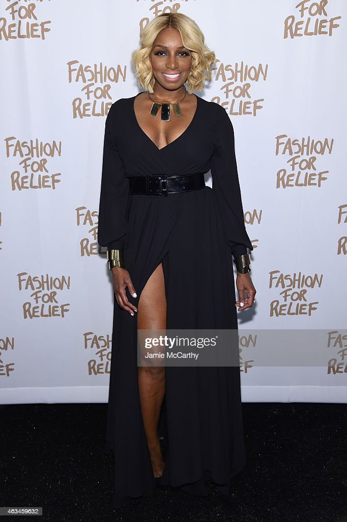 NeNe Leakes attends Naomi Campbell's Fashion For Relief Charity Fashion Show during MercedesBenz Fashion Week Fall 2015 at The Theatre at Lincoln...