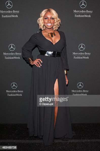 NeNe Leakes is seen during MercedesBenz Fashion Week Fall 2015 at Lincoln Center for the Performing Arts on February 14 2015 in New York City