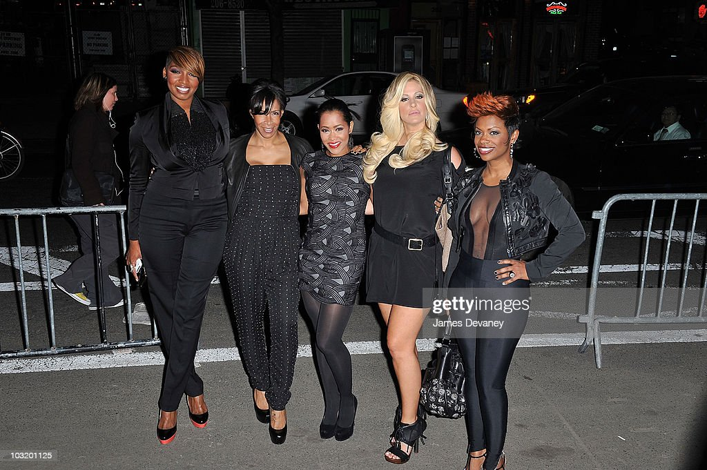 NeNe Leakes Sheree WhitfieldLisa Wu Hartwell Kim Zoiciak and Kandi Burruss from the Real Housewives of Atlanta attend Bravo's 2010 Upfront Party at...