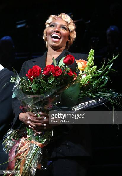 NeNe Leakes takes her opening night bow as Mama Morton in the hit musical 'Chicago' on Broadway at The Ambassador Theater on November 23 2015 in New...