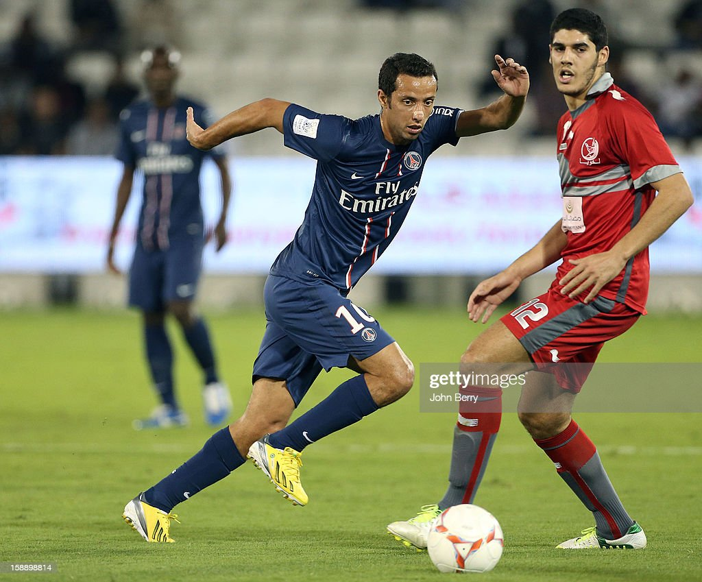 Nene of PSG in action during the friendly match between Paris Saint-Germain FC and Lekhwiya Sports Club at the Al-Sadd Sports Club stadium on January 2, 2013 in Doha, Qatar.