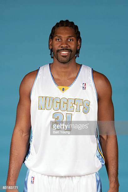 Nene of the Denver Nuggets poses for a portrait during NBA Media Day on September 29 2008 at the Pepsi Center in Denver Colorado NOTE TO USER User...