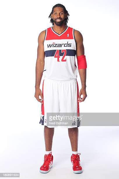 Nene of the Washington Wizards poses for a portrait during 2012 NBA Media Day at the Verizon Center on October 1 2012 in Washington DC NOTE TO USER...