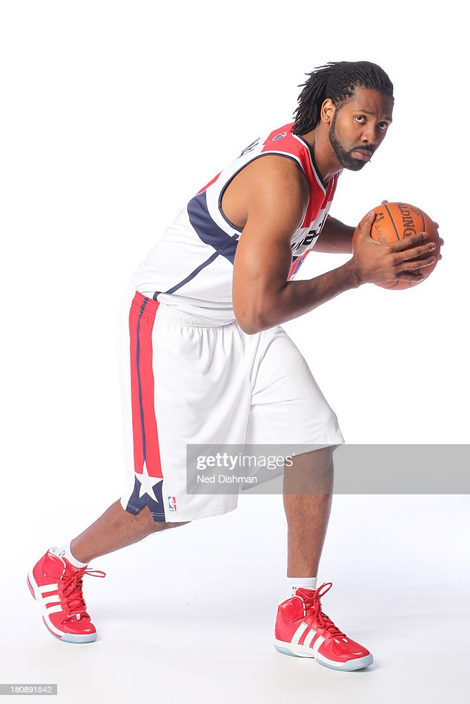 Nene #42 of the Washington Wizards poses for a portrait during 2012 NBA Media Day at the Verizon Center on October 1, 2012 in Washington, DC.