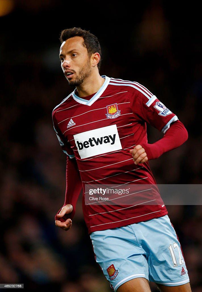 Nene of West Ham in action during the Barclays Premier League match between West Ham and Chelsea at the Boleyn Ground on March 4, 2015 in London, England.