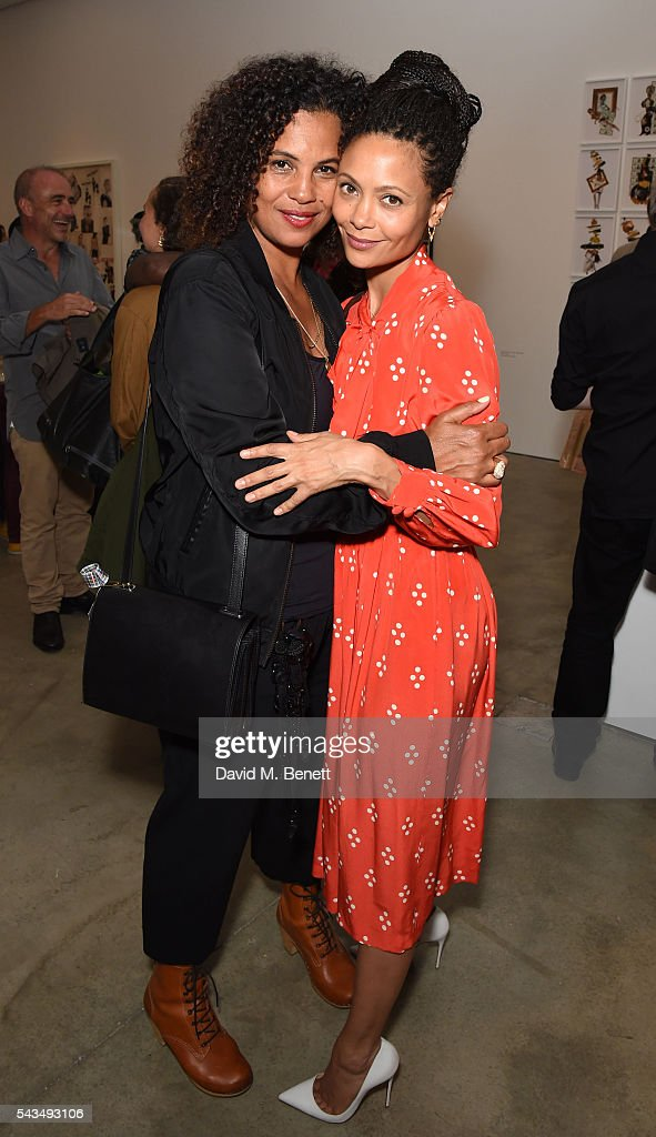 Neneh Cherry and Thandie Newton attend a VIP private view of 'Judy Blame Never Again' and 'Artistic Difference' at the ICA on June 28 2016 in London...