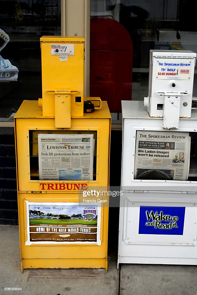 Nens paper on sale throught automate buying containers Lewiston Tribune and The Spokesman Review