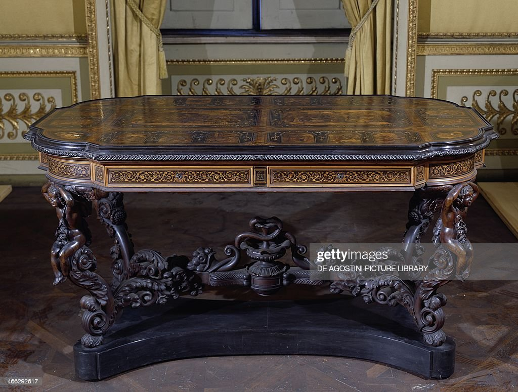 Neo baroque furniture by paolo lucchetta modern furniture design - Neo Baroque Style Table With Four Carved Winged Cherubs And Inlays By G Download Image Neo Baroque Furniture